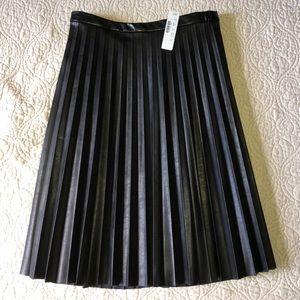Dresses & Skirts - J Crew Faux Leather Micro-Pleat Midi Skirt